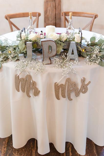 Shenandoah Mill Wedding Sweetheart Table Decor in Gilbert AZ