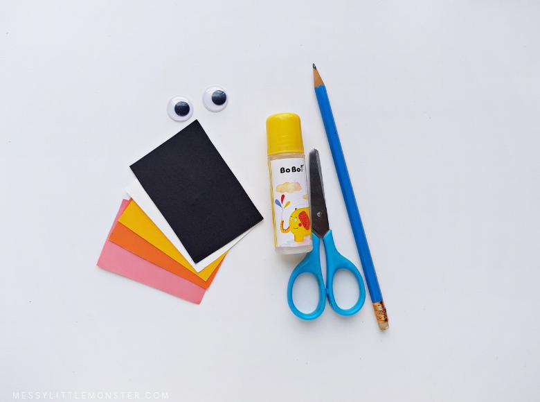 penguin bookmark craft supplies