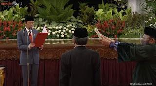 Presiden Jokowi Lantik Menteri dan Wamen Kabinet Indonesia Maju