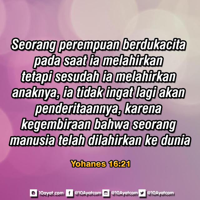 Yohanes 16:21