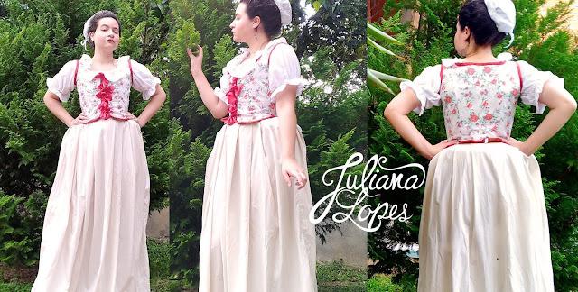 Juliana Lopes - traje do século XVIII