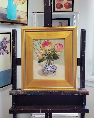 Floral oil painting by Merrill Weber