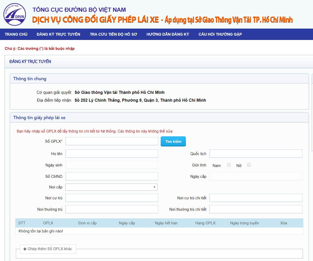 Hướng dẫn đổi giấy phép lái xe trực tuyến qua mạng