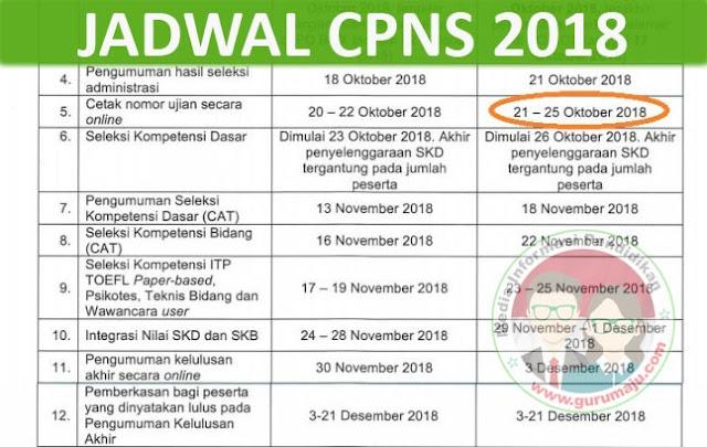 Jadwal CPNS 2018 dari Pendaftaran, Kelulusan Berkas, Cetak Kartu, Hingga Pengumuman Kelulusan