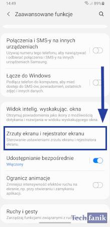 Ustawienia screenshotów
