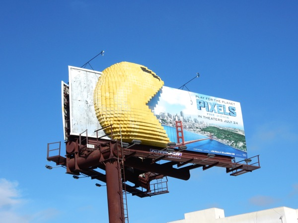 Pixels Movie 3D PacMan billboard