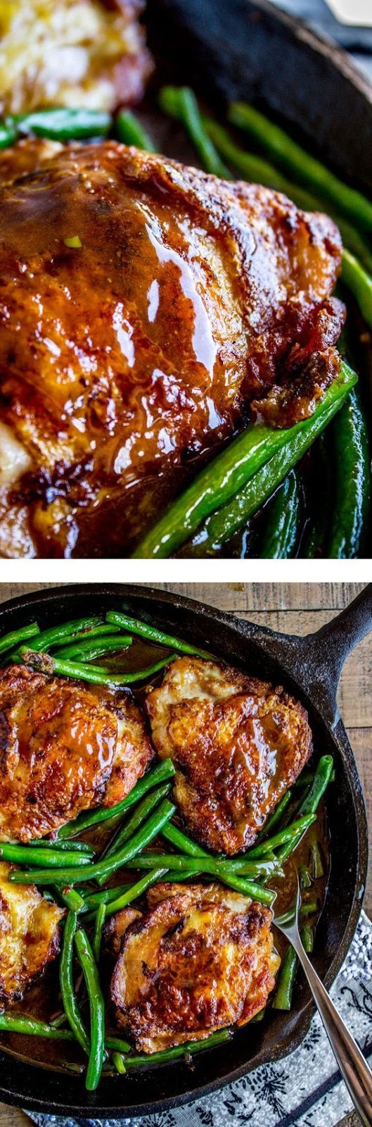 Asian Seared Chicken with Stir Fried Green Beans