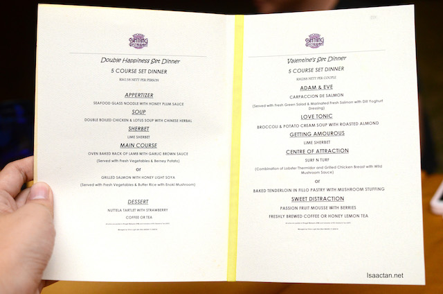 Two menus, in one