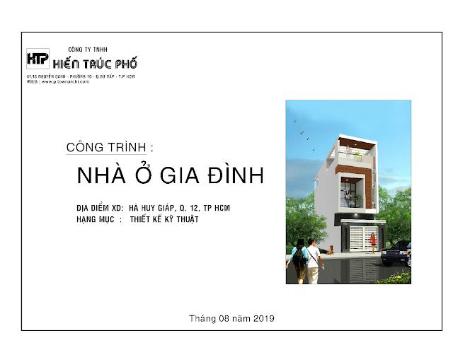 Cập nhật: hồ sơ thiết kế kiến trúc nhà phố quận 12