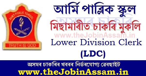 Army Public School, Missamari Recruitment 2020