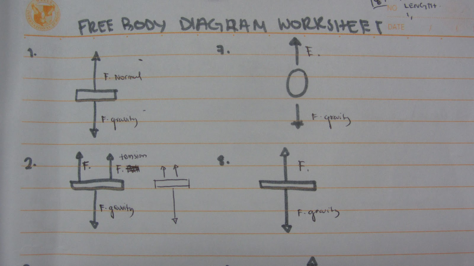 Amira S School Blog Free Body Diagram Worksheet