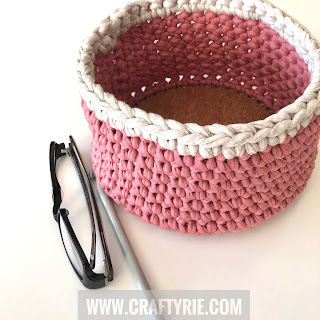 Tshirt Yarn Bowl by CraftyRie