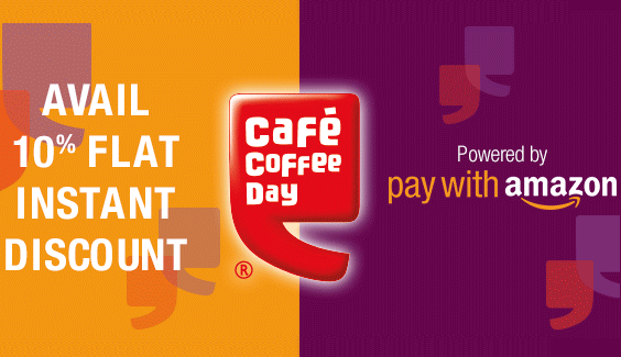 Cafe Coffee Day - Get Instant 10% Discount on Paying via Amazon ...
