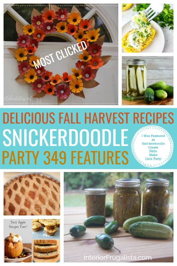 Delicious Fall Harvest Recipes - Snickerdoodle Party 349 Features