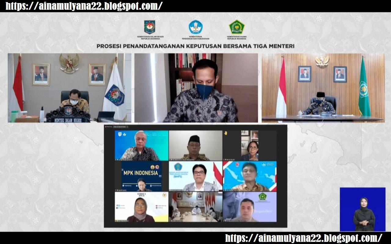 Keputusan Bersama 3 Menteri Tentang Pakaian Seragam dan Atribut Sekolah (Siswa, guru dan Tenaga Kependidik)