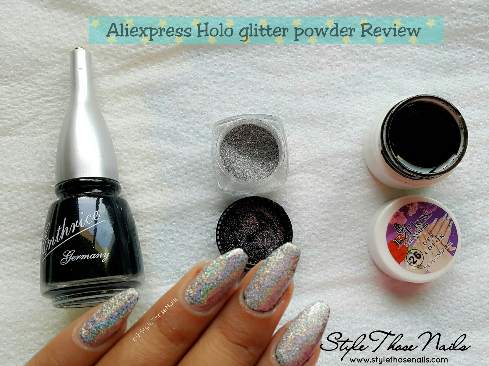 Today I Am Sharing A Review Comparison Post Of Holo Glitter Powder Recently Purchased From Aliexpress This Product Was Described As Laser