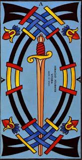 Le cinq d'épée à l'envers
