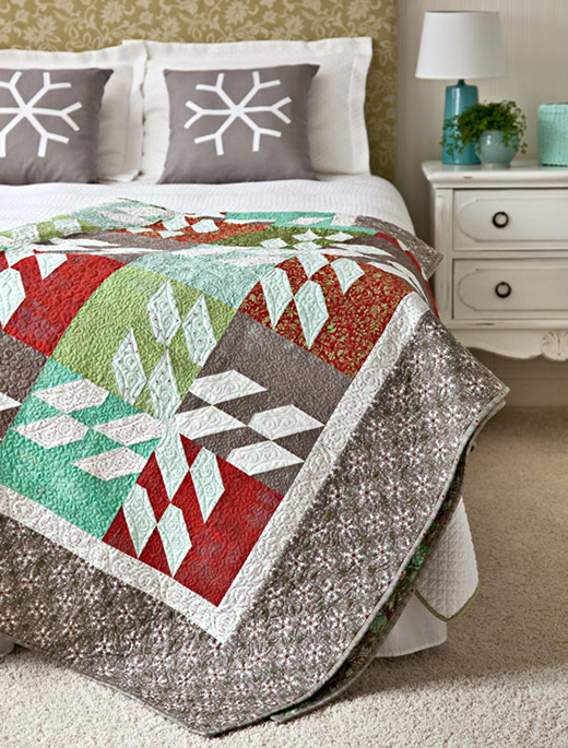 Blooming Blocks Wall Hanging Free Quilt Pattern