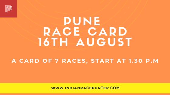 Pune Race Card 16 August
