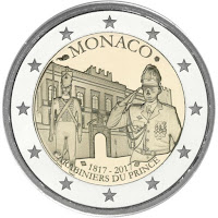 Monaco 2 euroa kolikko 2017