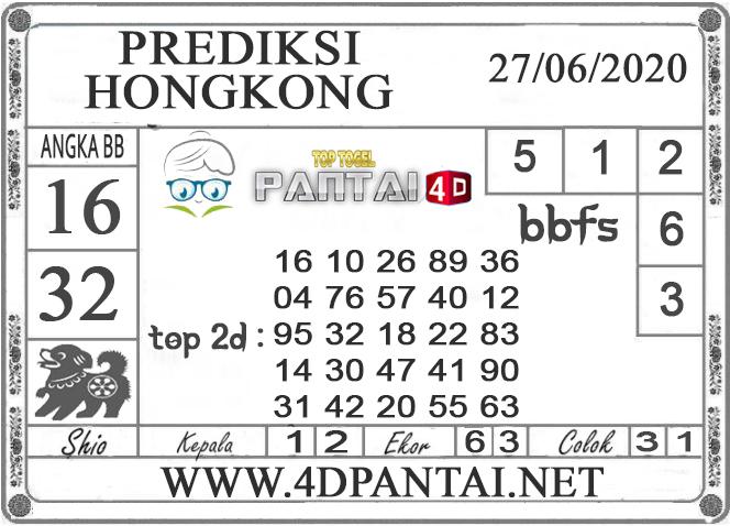 PREDIKSI TOGEL HONGKONG PANTAI4D 27 JUNI 2020