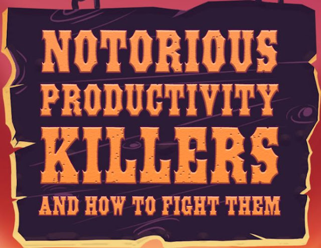 notorious productivity killers how to fight them infographicswrike bes agilet project management tools