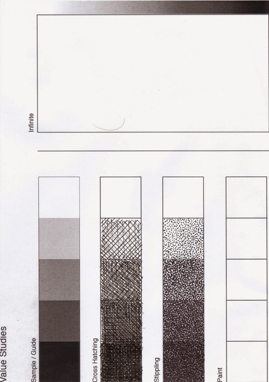 Just A Dash Of Color Value Chart Cross Hatching Amp Stippling