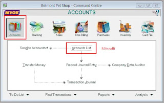 Cara Menambah, Mengedit dan Menghapus Akun di Myob Accounting Program