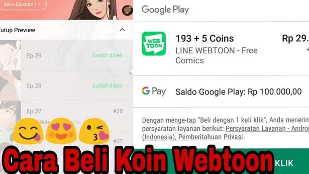 Berikut Panduan Langkah Beli Koin Webtoon dengan Pulsa HP