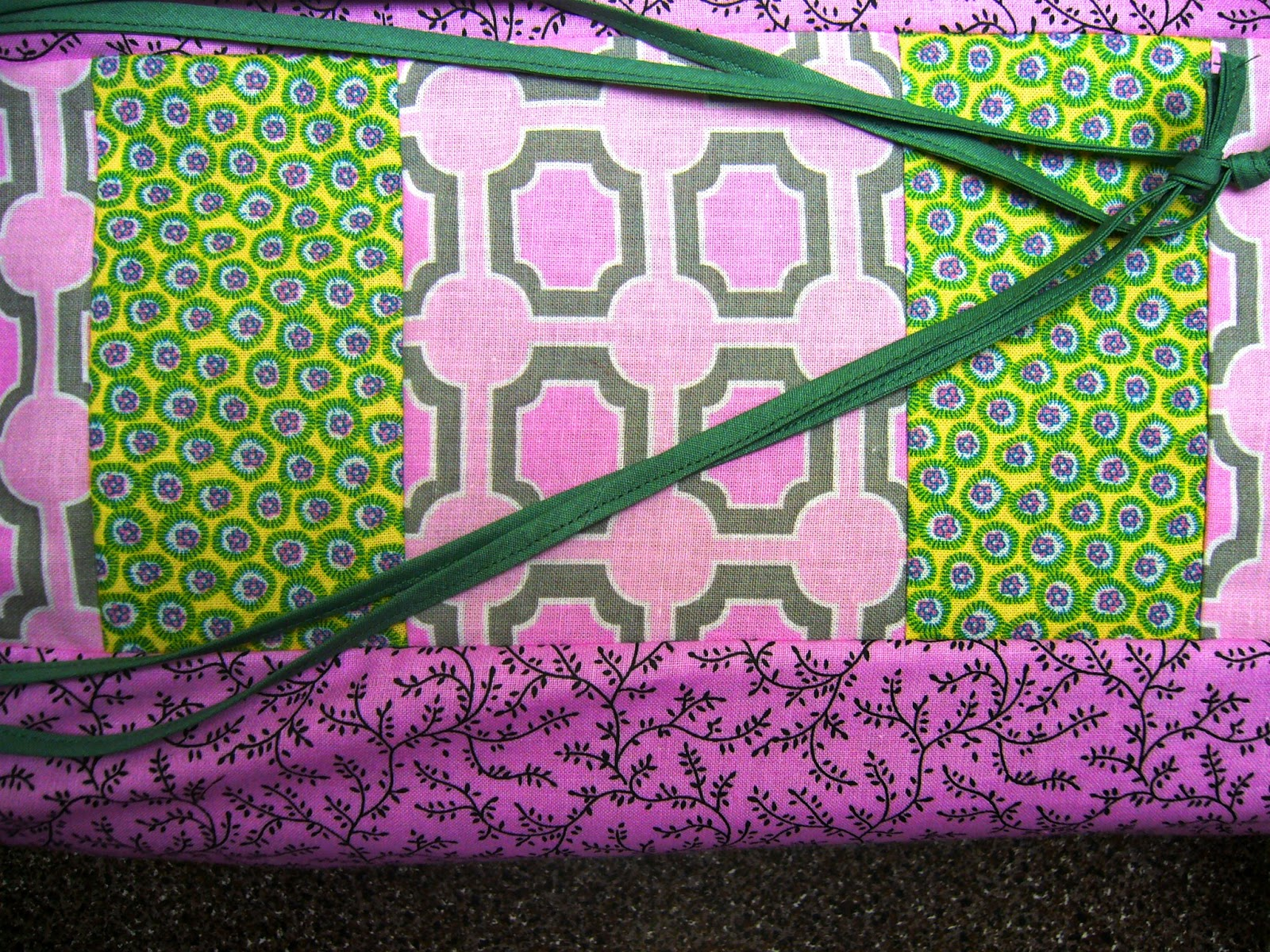 scrap fabric drawstring bag
