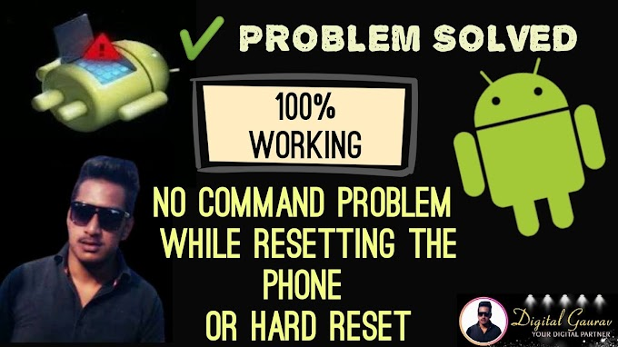 if You Want to Hard Reset your Android Phone ANd see No Command Option