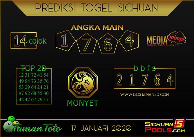Prediksi Togel SICHUAN TAMAN TOTO 17 JANUARI 2020