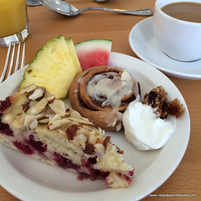 breakfast plate from buffet at Hotel Carter in Eureka, California