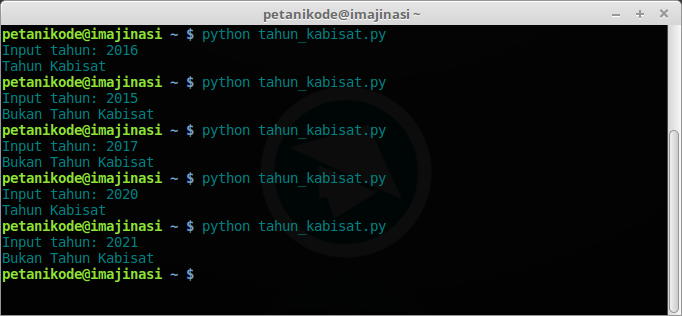 Program Tahun Kabisat Python