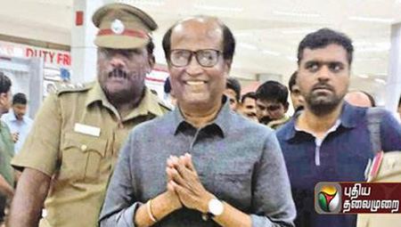 Superstar Rajinikanth returns to Chennai after month long vacation