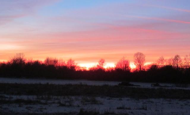 Яркий закат солнца