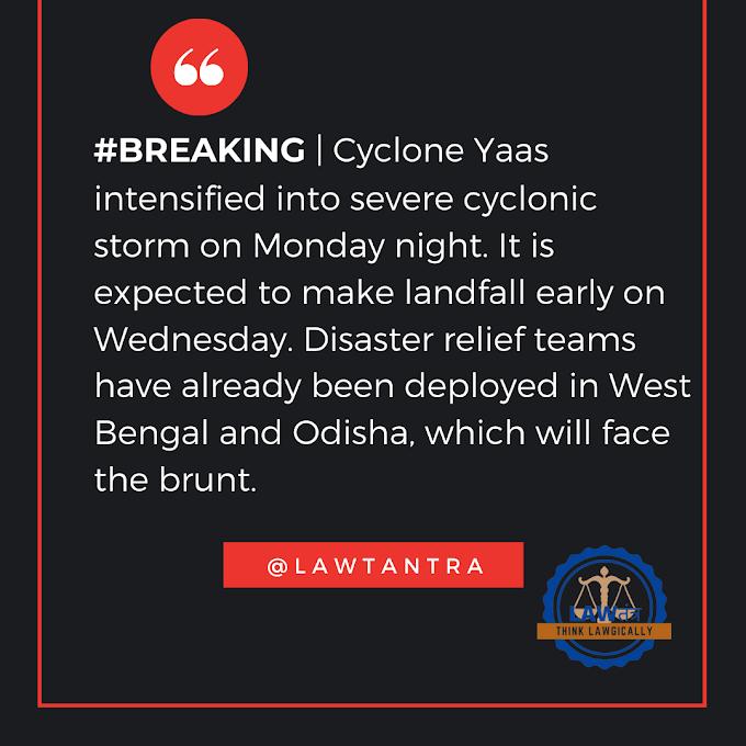 Cyclonic storm Yaas