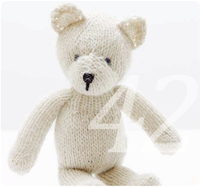 knit kit teddyb r selber n hen oder stricken. Black Bedroom Furniture Sets. Home Design Ideas