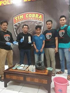 Tim Cobra Polres Lumajang Gerebek  Rumah Produksi Petasan