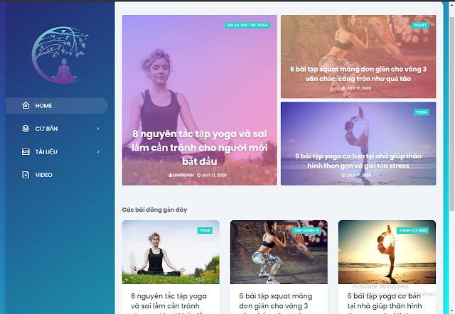 Mẫu website Yoga