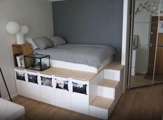 أفكار لاستعلال المساحات الصغيرة في غرفة النوم
