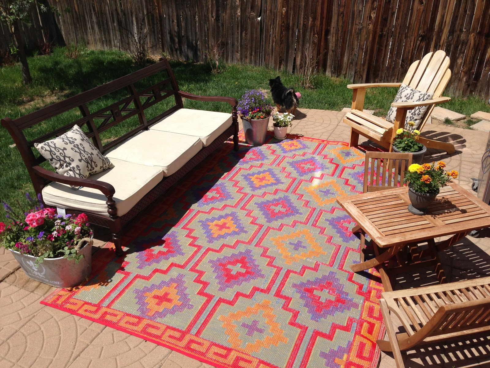 On Prairie Hill: Our New Fab Habitat Outdoor Rug