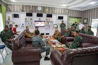 Silaturahmi Bersama Dandim 0209/ LB, Pjs Bupati Labuhanbatu Bahas Penegakan Hukum Perbub No 43