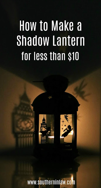 DIY Peter Pan Shadow Lantern Tutorial