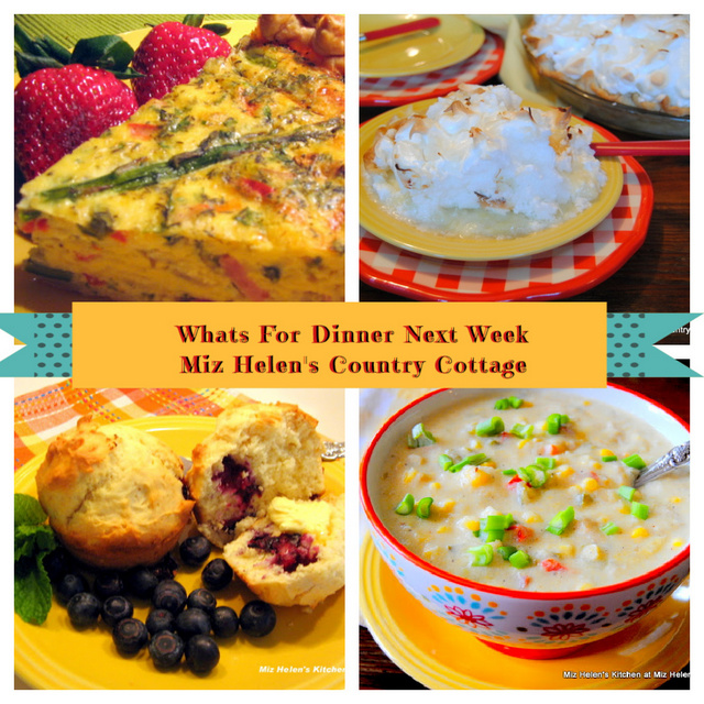 Whats For Dinner Next Week, 4-25-21 at Miz Helen's Country Cottage