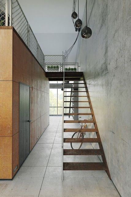 steel design for staircase