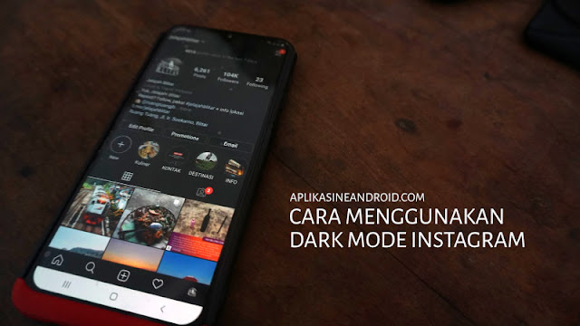 Cara Setting Dark Mode Instagram