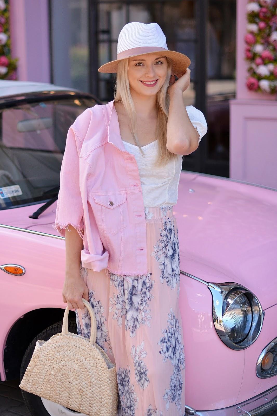 różowa słodka stylizacja