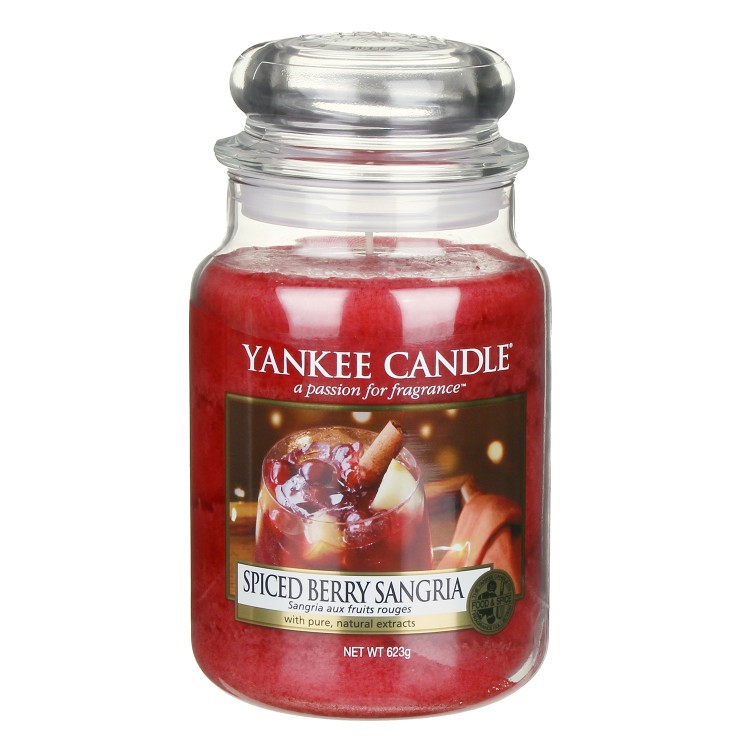 Fruit Scent Yankee Candle Spiced Berry Sangria Large Jar Candle