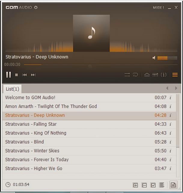 GOM Audio - Aplikasi Pemutar Musik PC Terpopuler